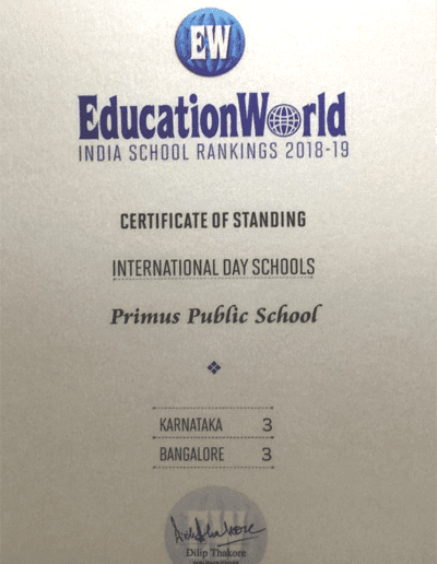 Education World - India School Rankings 2018-19